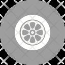 Rubber Tires Rim Icon