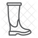 Rubber Boot Footwear Icon