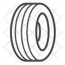 Rubber Tire Tyre Icon
