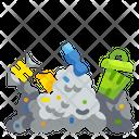 Rubbish Pollution Waste Contaminated Icon