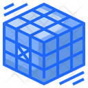 Rubik Cube Geometry Icon