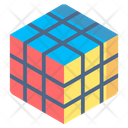Rubik Cube Playing Kid Icon