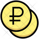 Ruble Coins Invest Icon