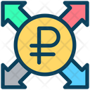 Ruble Send Payment Icon