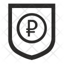 Ruble Shield Safety Icon