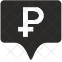 Ruble Tag Place Icon