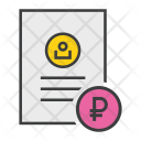 Ruble Banking Document Icon