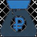 Ruble Bag Icon