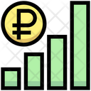 Ruble Graph Earning Graph Money Icon