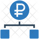 Ruble Hierarchy Structure Connection Icon