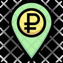 Ruble Location Money Location Ruble Icon