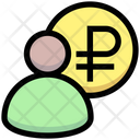 Ruble Manager Accountant Banker Icon