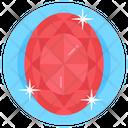 Gemstone Ruby Stone Emerald Icon