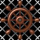 Rudder Boat Cruise Icon