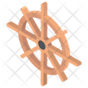 Rudder Ship Wheel Boat Rudder Icon