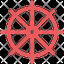 Rudder Ship Wheel Ship Steering Wheel Icon