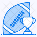 Rugby American Football Sports Accessory Icon
