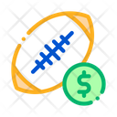 Rugby Ball Betting Icon
