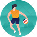 Rugby Player Rugby Figure Rugby Game Icon