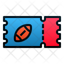 Rugby Ticket Rugby Ticker Icon