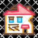 Ruined House Broken Icon