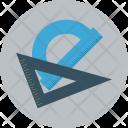 Rule Protractor Measuring Icon
