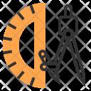 Ruler Design Stationery Icon