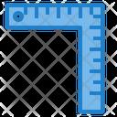 L Square Ruler Scale Icon