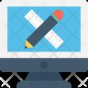 Ruler Pencil Monitor Icon