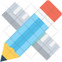 Ruler Pencil Geometry Icon