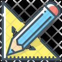 Design Pencil Draw Ruler Icon