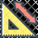 Ruler Size Transform Design Icon