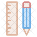 Ruler Pencil Measurement Icon