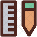 Ruler Pencil Measure Icon
