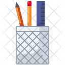 Ruler Pencil Holder Pencilcase Icon