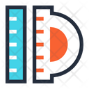Ruler Measurement Tool Scale Icon