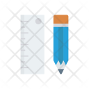 Ruler Measure Pencil Icon