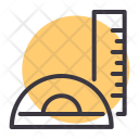Ruler Scale Protractor Icon