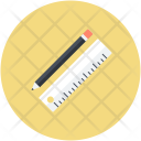 Ruler Pencil Drafting Icon