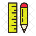 Ruler Draw Sketch Plan Icon