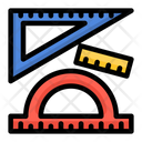 Rulers Geometry Measuring Tools Icon