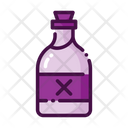 Rum Rum Bottle Cross Sign Icon