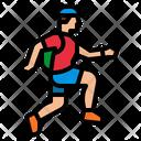 Trail Run Mountain Icon