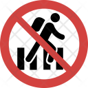 Run fast not allowed Icon