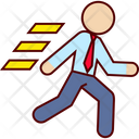 Business Man Run Icon