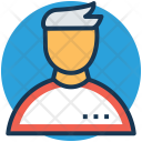 Racer Athlete Runner Icon