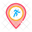 Runner Athlete Geolocation Icon