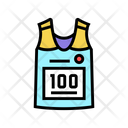 Runner T Shirt Color Icon