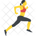 Running Woman Jogging Icon