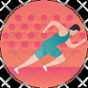 Running Racing Sprinting Icon